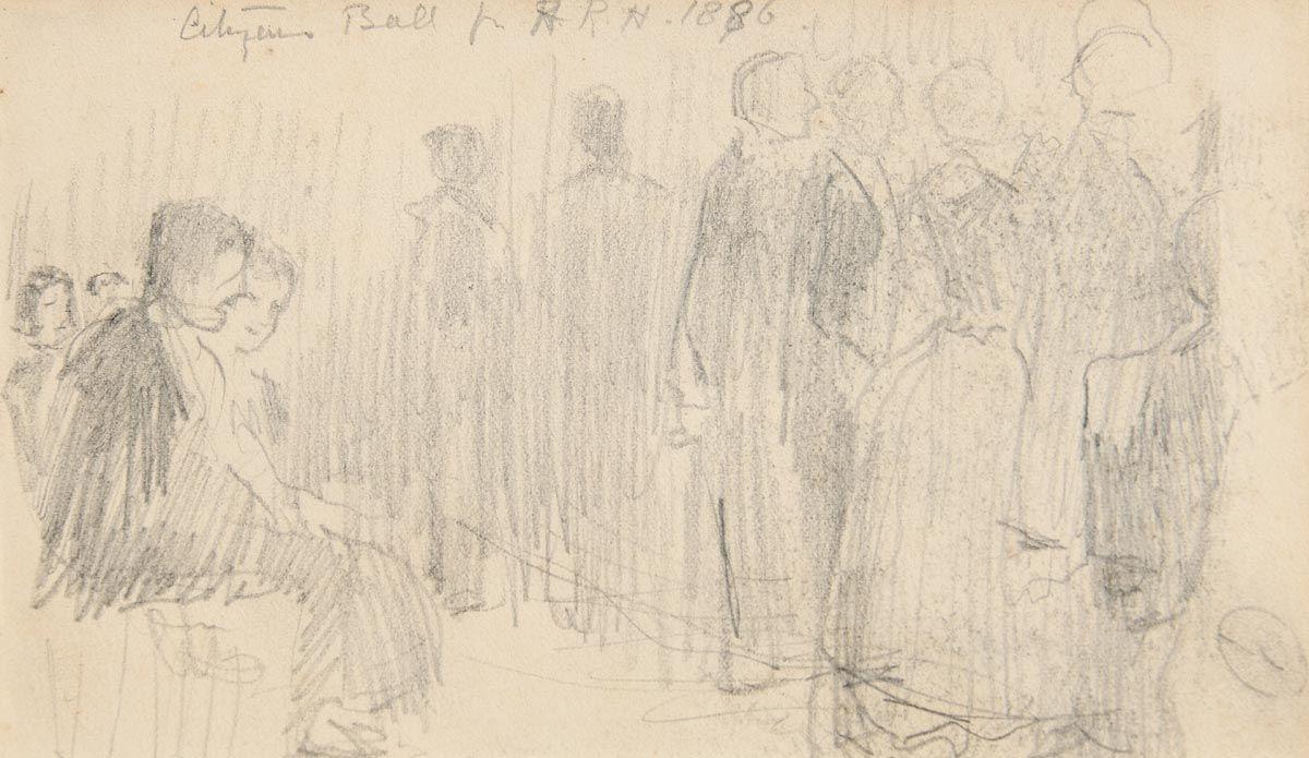 John Butler Yeats, The Ball (1886) at Morgan O'Driscoll Art Auctions