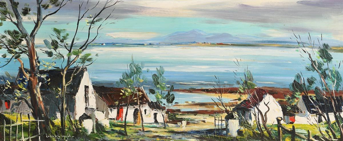 Kenneth Webb, Cottages in Connemara at Morgan O'Driscoll Art Auctions