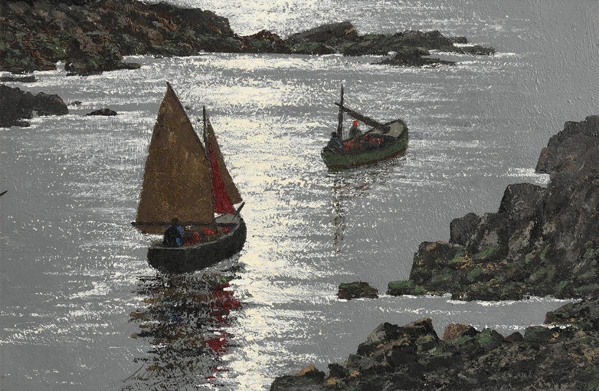 Ciaran Clear, Setting Out for the Island at Morgan O'Driscoll Art Auctions