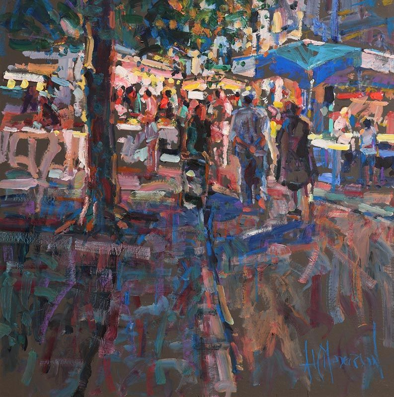 Arthur K. Maderson, Le Marche de Nuit at Morgan O'Driscoll Art Auctions