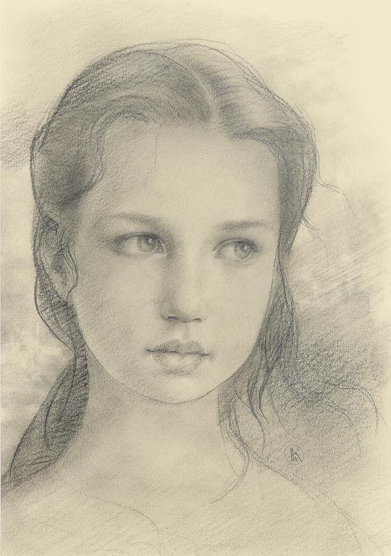 Ken Hamilton, Portrait of a Young Lady at Morgan O'Driscoll Art Auctions