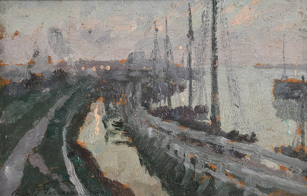 Oswald Poreau, Port in France (1919) at Morgan O'Driscoll Art Auctions