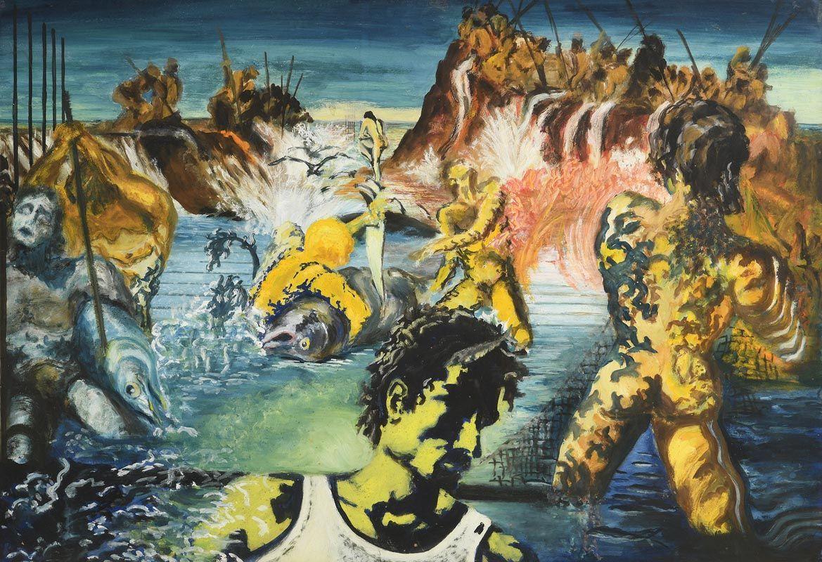 John Doherty, Tuna Fishing, After Salvador Dali (1967/8) at Morgan O'Driscoll Art Auctions