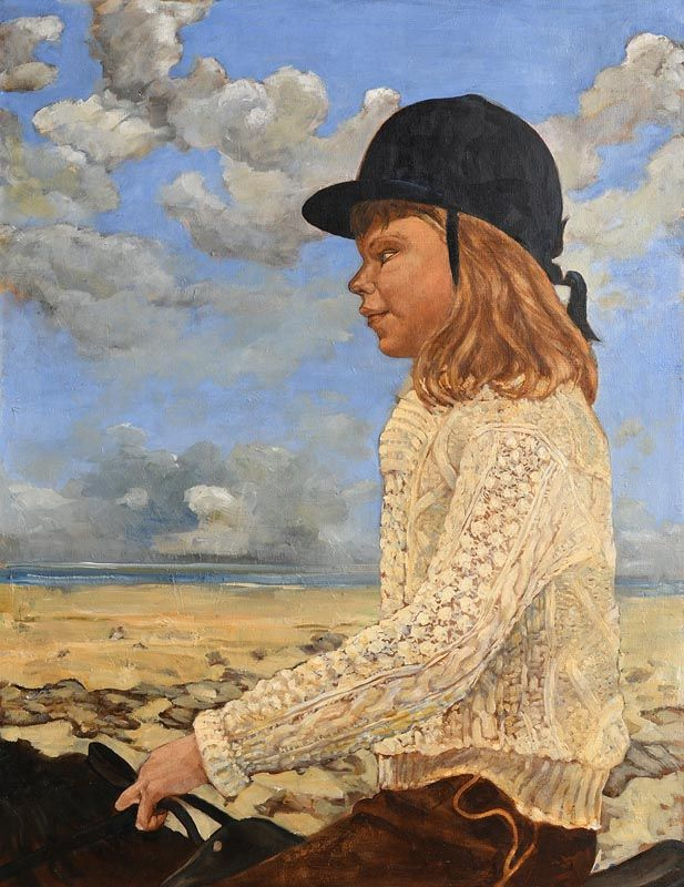 Marjorie Fitzgibbon, Riding Out on Killiney Beach at Morgan O'Driscoll Art Auctions