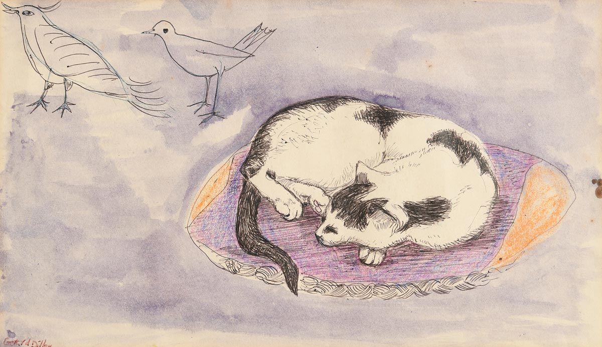 Gerard Dillon, Dreaming at Morgan O'Driscoll Art Auctions