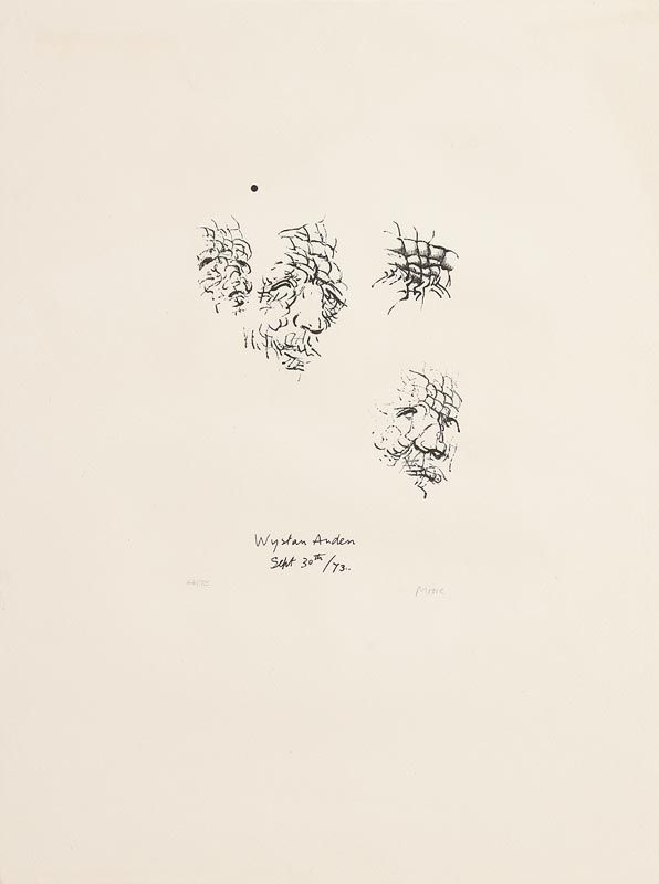 Henry Moore, Sketches of W.H. Auden (1973) at Morgan O'Driscoll Art Auctions