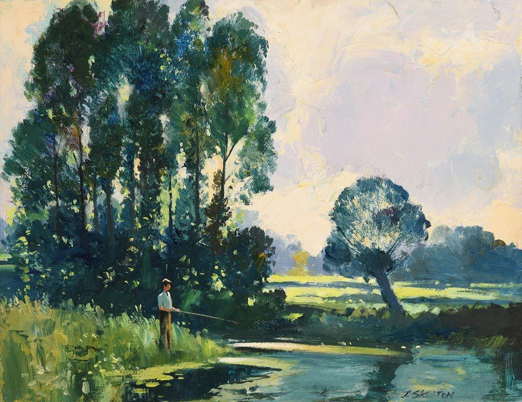 John Skelton, Fly Fishing at Morgan O'Driscoll Art Auctions