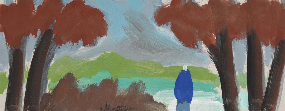 Markey Robinson, Blue Shawlie at Morgan O'Driscoll Art Auctions
