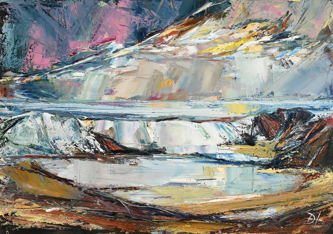 Douglas Hutton, Wave Breaking, Strandhill Sligo (2018) at Morgan O'Driscoll Art Auctions
