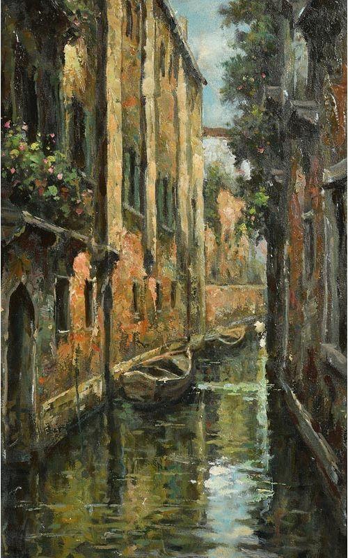 Loris Vendramin, Evening Light, Venice at Morgan O'Driscoll Art Auctions