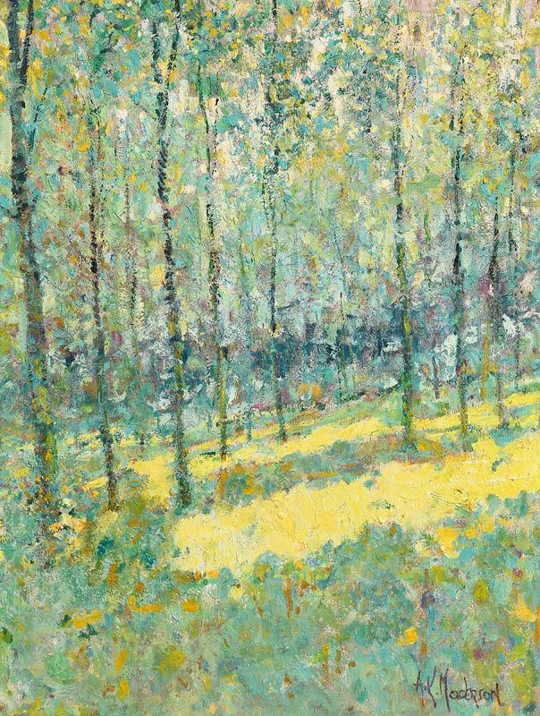 Arthur K. Maderson, Poplars at Morgan O'Driscoll Art Auctions