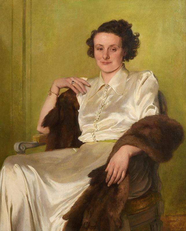 Sir Gerald Festus Kelly, Portrait of a Seated Lady at Morgan O'Driscoll Art Auctions