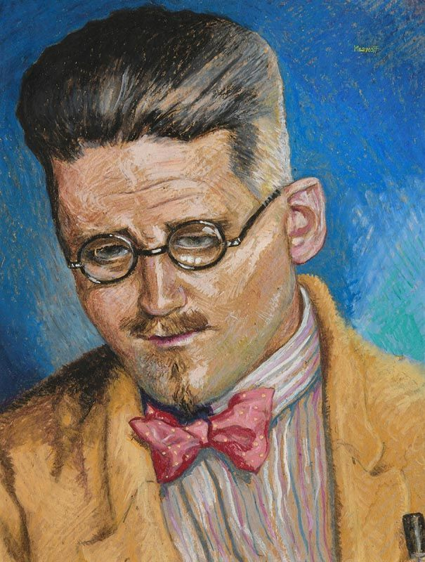 Harry Aaron Kernoff, Study of James Joyce at Morgan O'Driscoll Art Auctions