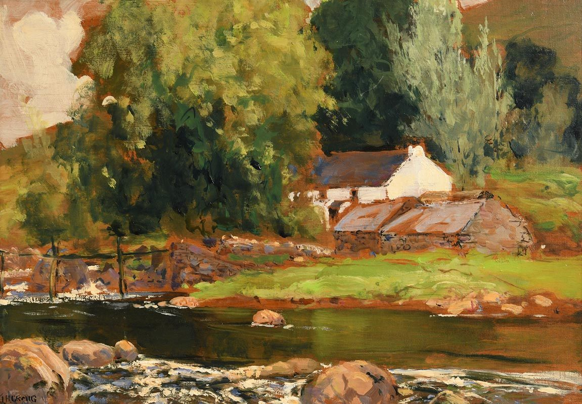 James Humbert Craig, Ina Cormac's Bridge, Cushendun, Co. Antrim at Morgan O'Driscoll Art Auctions