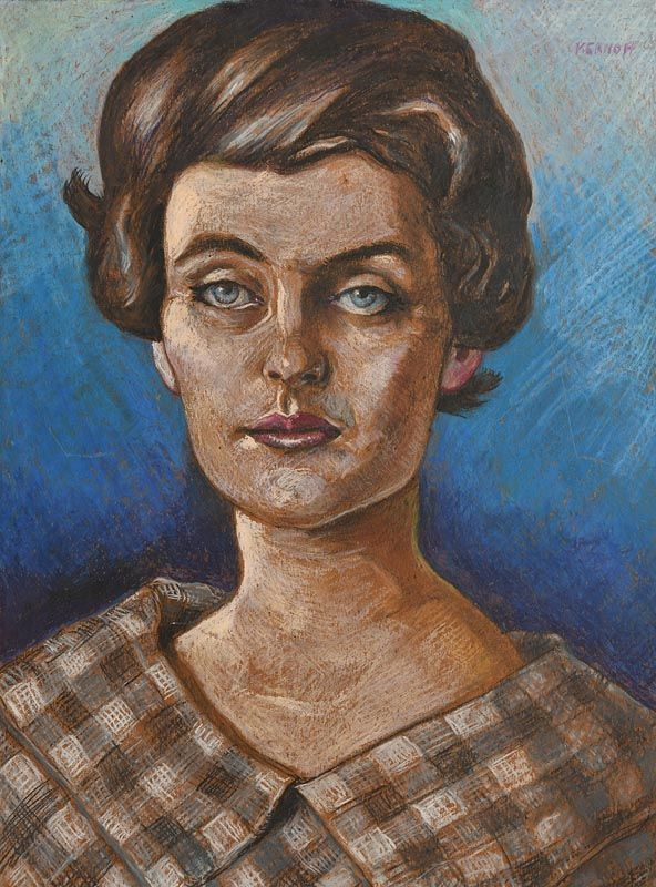 Harry Aaron Kernoff, Portrait of a Young Lady at Morgan O'Driscoll Art Auctions