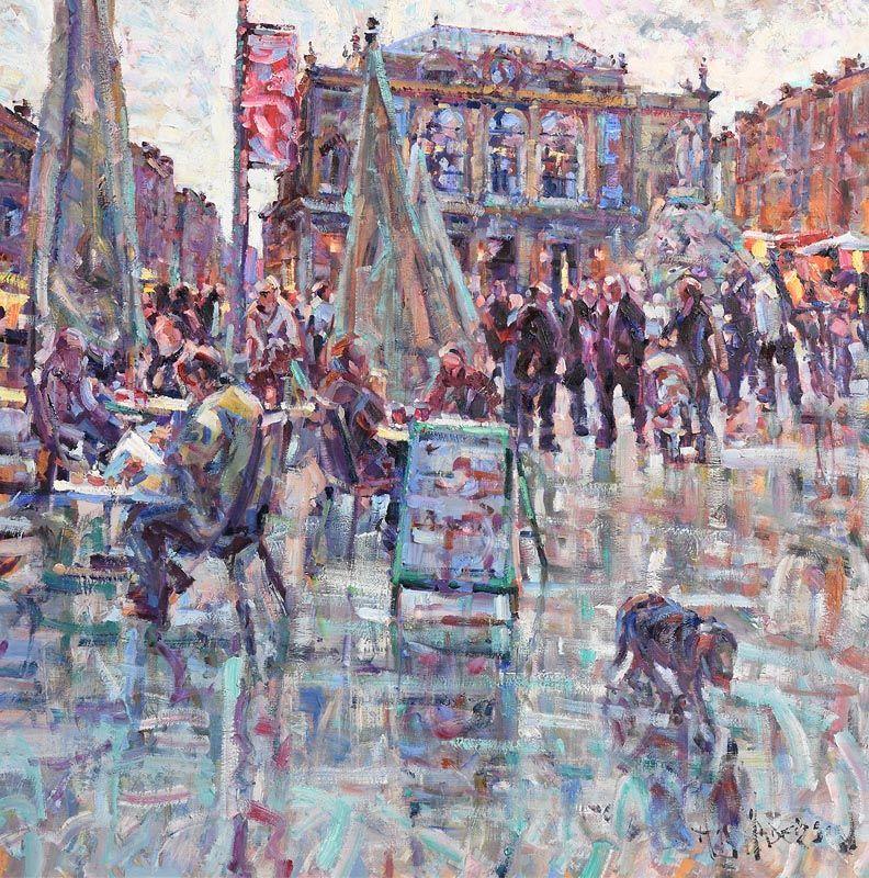 Arthur K. Maderson, Towards Evening, La Place de la Monedie, Montpellier, France at Morgan O'Driscoll Art Auctions