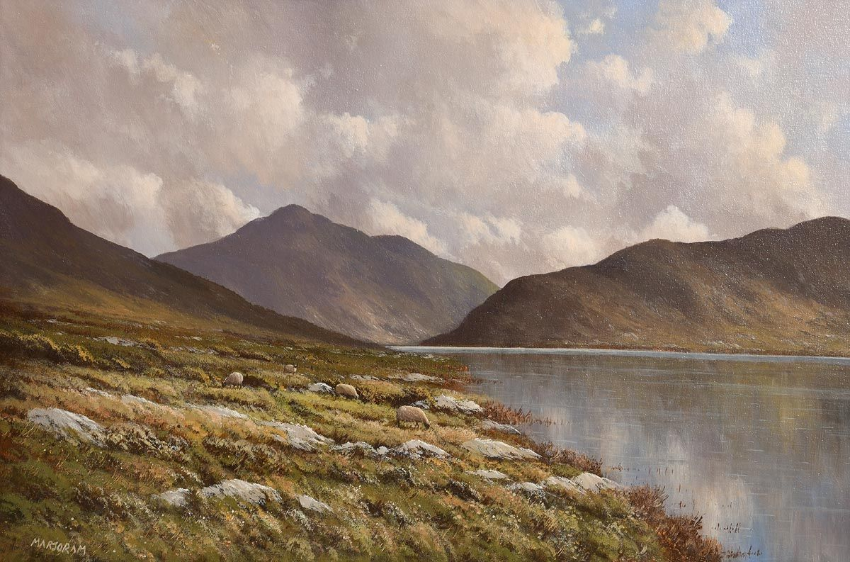 Gerard Marjoram, Doo Lough and Bengorm Mountain, Connemara at Morgan O'Driscoll Art Auctions