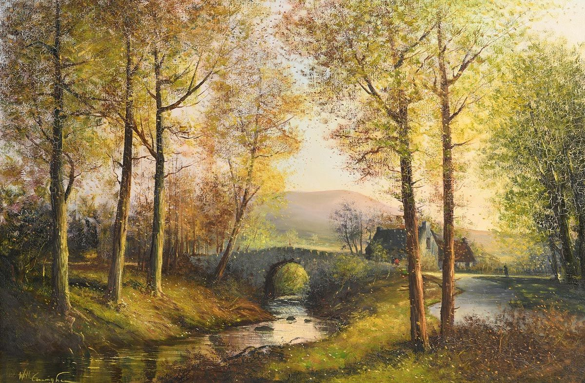 William Cunningham, Quiet Waters at Ballyleaghy Bridge at Morgan O'Driscoll Art Auctions