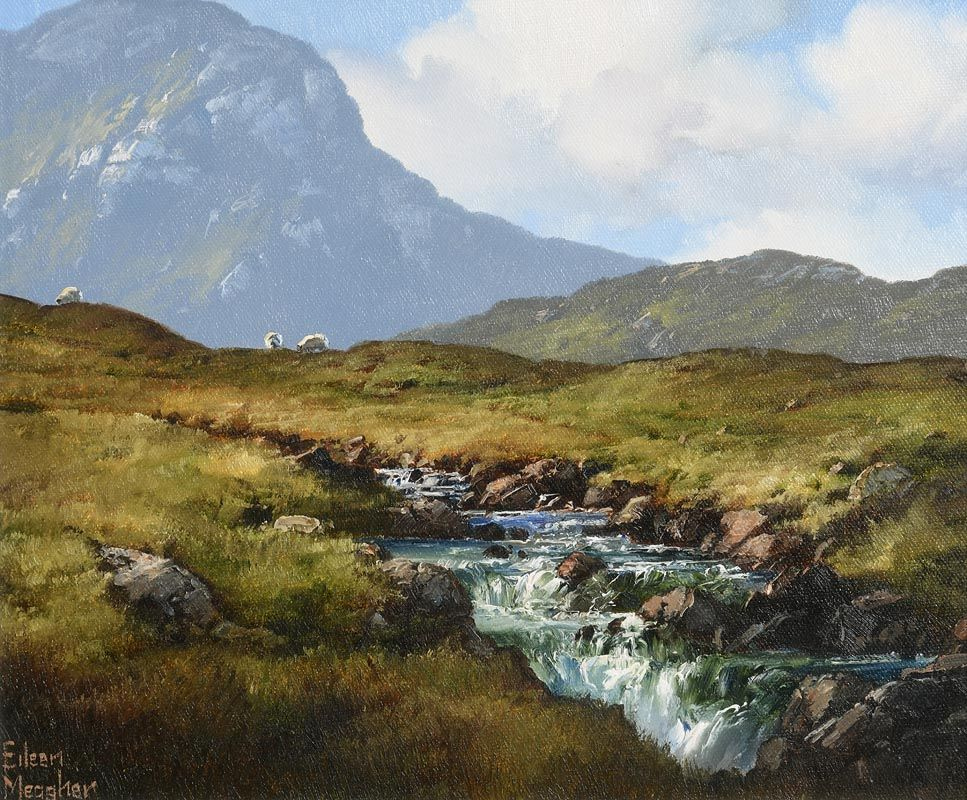 Eileen Meagher, Mountain Stream, Inagh Valley, Connemara at Morgan O'Driscoll Art Auctions