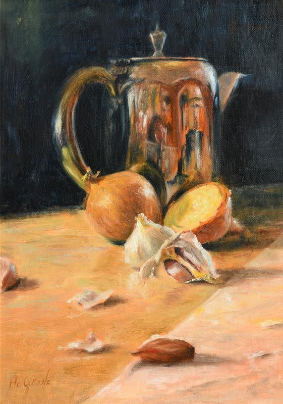 Henry McGrane, Still Life with Onions and Garlic (2006) at Morgan O'Driscoll Art Auctions