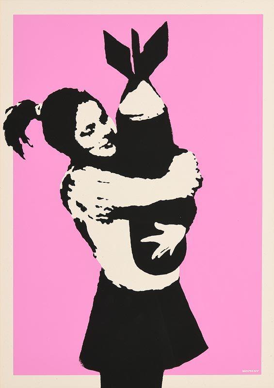 Banksy, Bomb Hugger at Morgan O'Driscoll Art Auctions