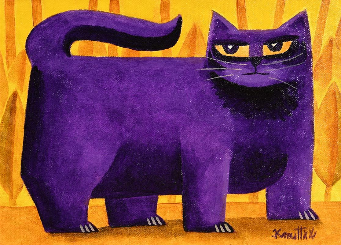Graham Knuttel, Yellow Eyed Cat at Morgan O'Driscoll Art Auctions