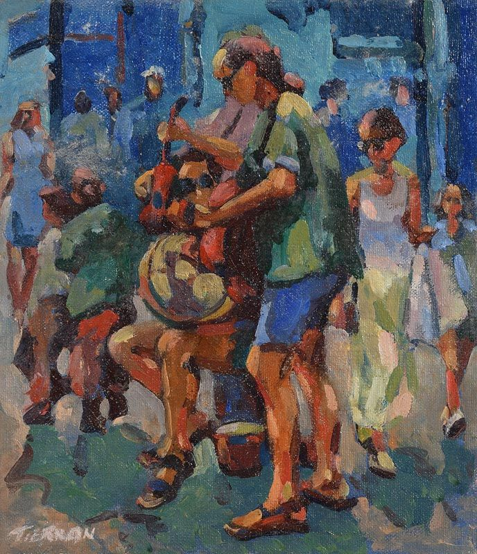 Sean Tiernan, Buskers at Morgan O'Driscoll Art Auctions