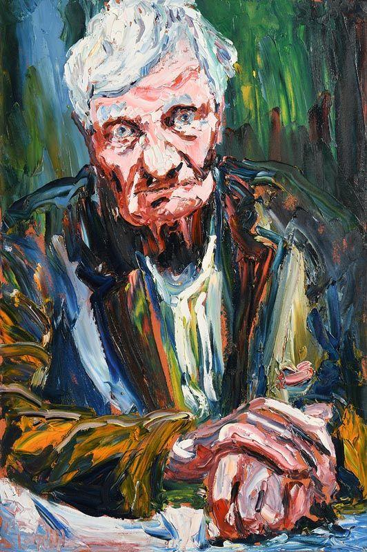 Liam O'Neill, Portrait of Francis Stewart at Morgan O'Driscoll Art Auctions