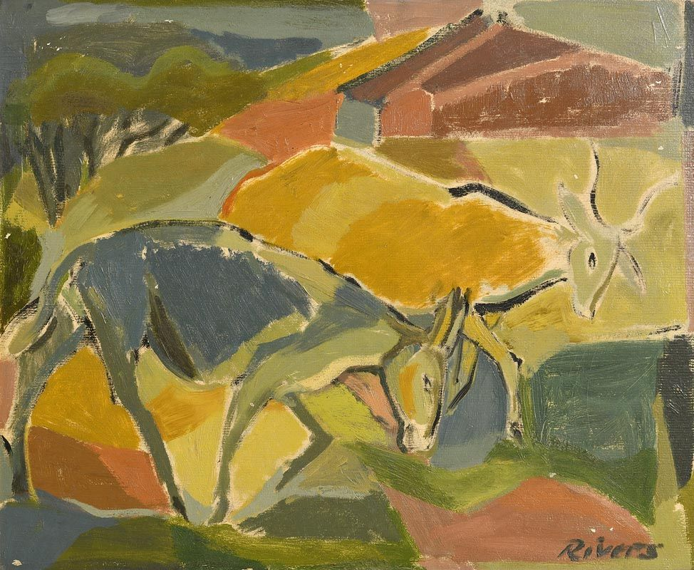 Elizabeth Rivers, Farmyard Scene at Morgan O'Driscoll Art Auctions