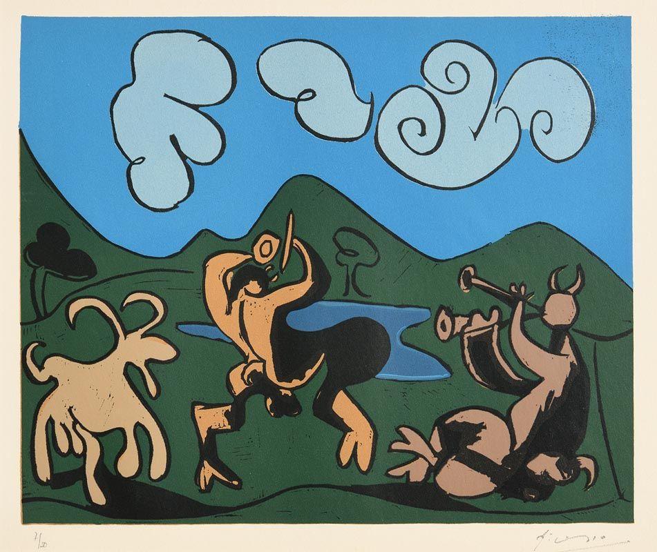 Pablo Picasso, Faunes et Chevre (1962) at Morgan O'Driscoll Art Auctions