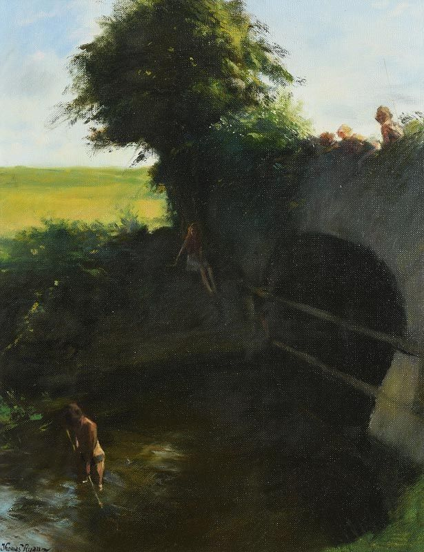 Thomas Ryan, The Pinkeen Fishers (1977) at Morgan O'Driscoll Art Auctions