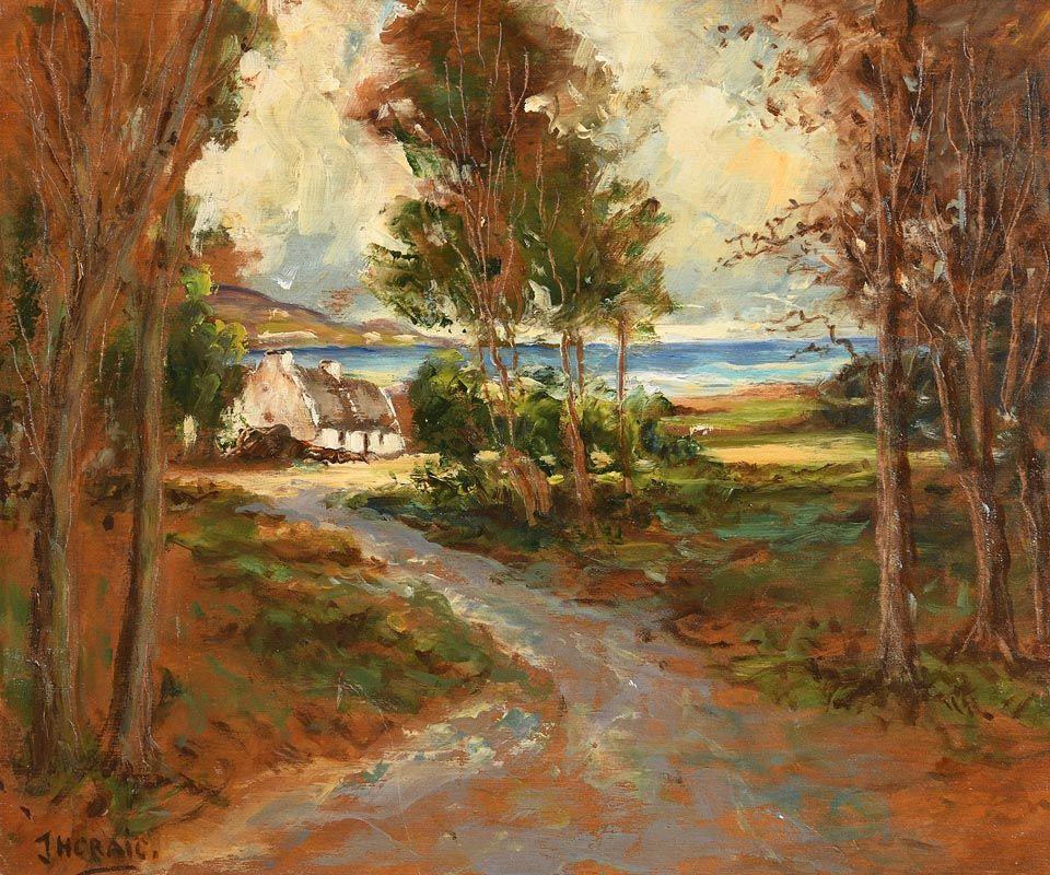 James Humbert Craig, Coastal Cottage at Morgan O'Driscoll Art Auctions