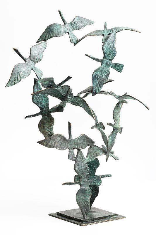 20th Century Irish School, Migrating Swans at Morgan O'Driscoll Art Auctions