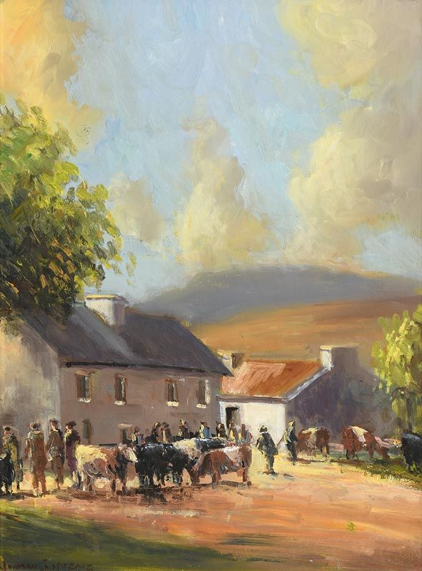 Norman J. McCaig, Market Day at Morgan O'Driscoll Art Auctions