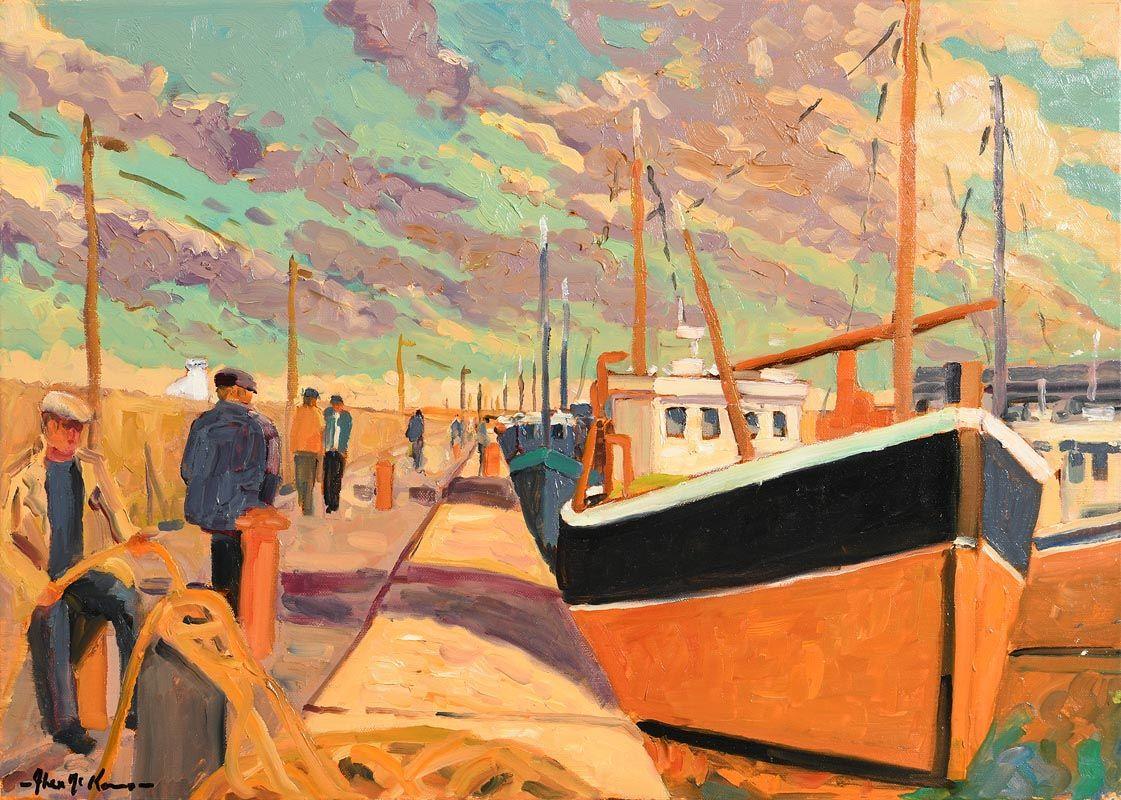 Alex McKenna, Balbriggan Harbour at Morgan O'Driscoll Art Auctions