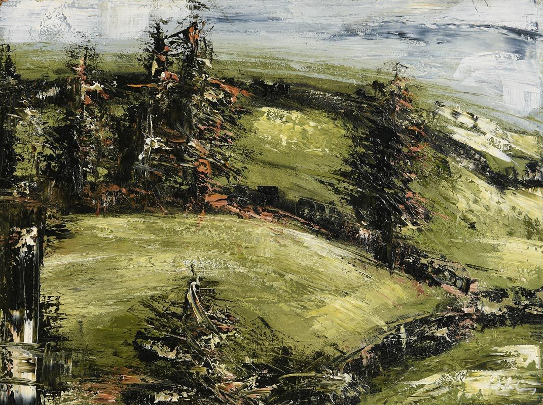 Donagh Carey, Towards Ringfort II at Morgan O'Driscoll Art Auctions