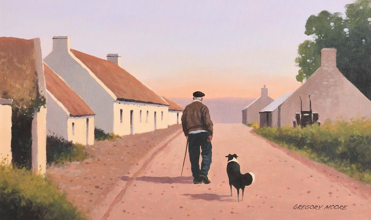 Gregory Moore, Home Before Sunset at Morgan O'Driscoll Art Auctions