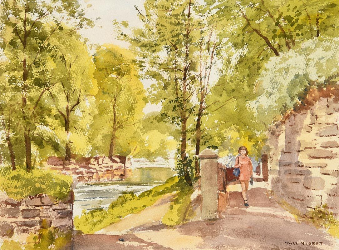 Tom Nisbet, Glimpse of Dodder at Morgan O'Driscoll Art Auctions