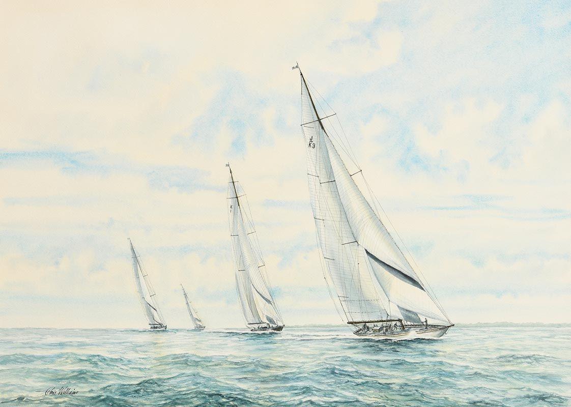 Chris Williams, The Regatta at Morgan O'Driscoll Art Auctions