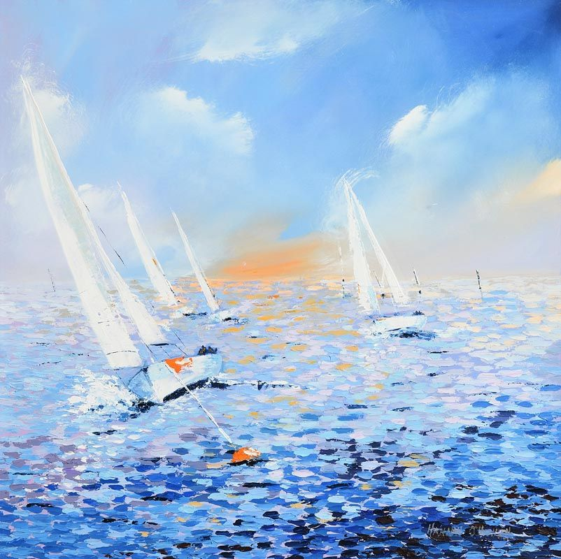 Hannah O'Hanlon, The Yacht Race at Morgan O'Driscoll Art Auctions