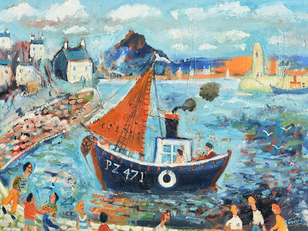 Simeon Stafford, View of the Mount from Newlyn at Morgan O'Driscoll Art Auctions