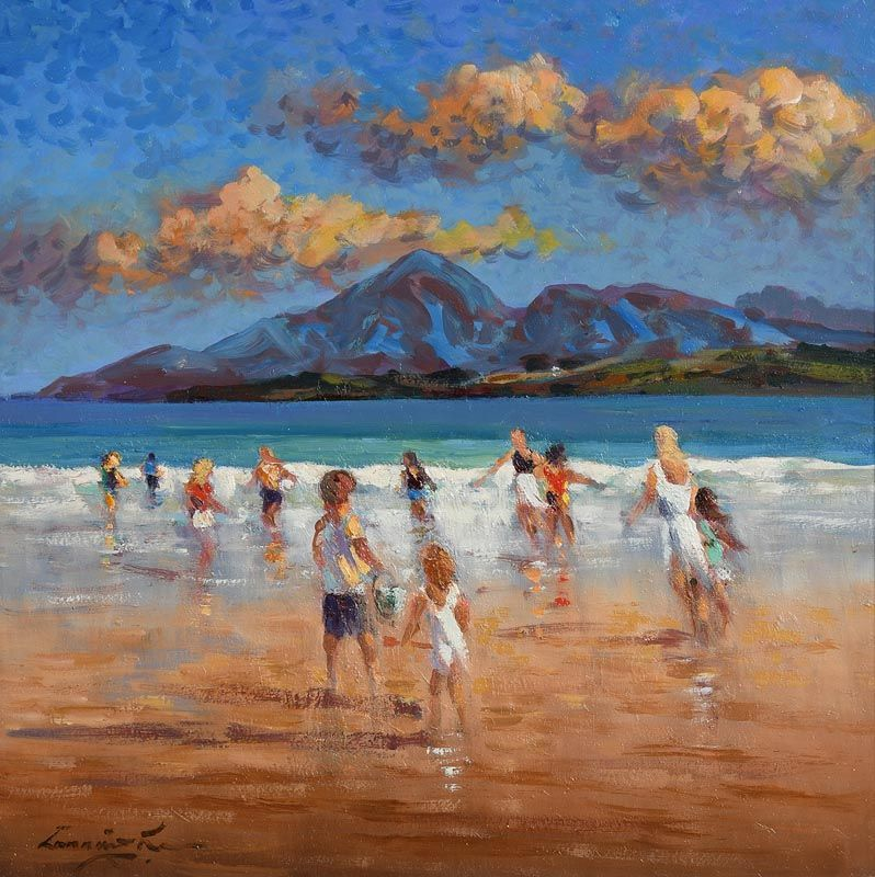 William Cunningham, Bathing Neath the Mournes. Co. Donegal at Morgan O'Driscoll Art Auctions