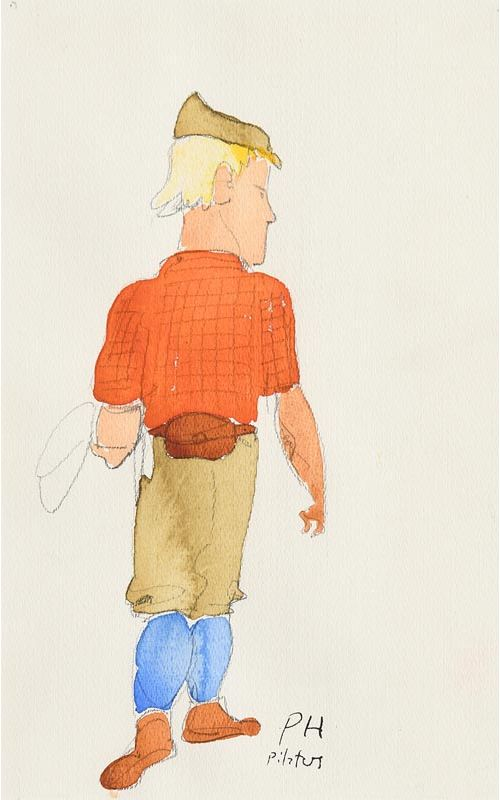 Paul Hogarth, Pilatus at Morgan O'Driscoll Art Auctions
