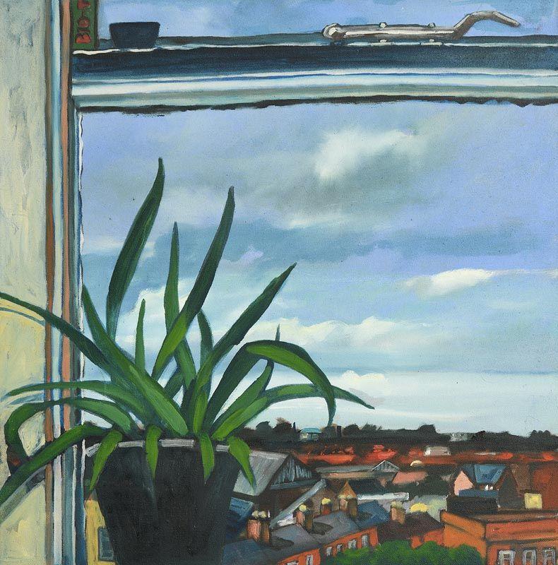 Una Sealy, City Windowsill at Morgan O'Driscoll Art Auctions