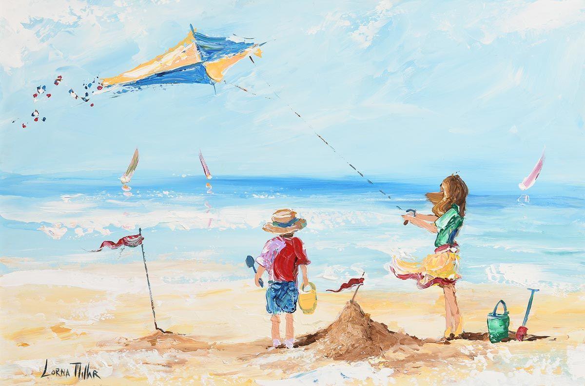 Lorna Millar, Flying a Kite at Morgan O'Driscoll Art Auctions