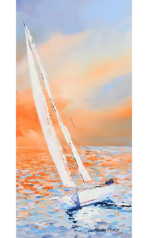 Hannah O'Hanlon, Sunset Sails at Morgan O'Driscoll Art Auctions