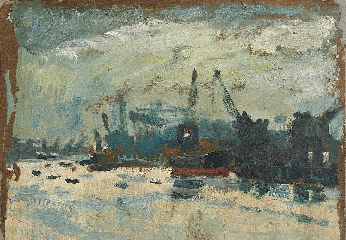 Colin Middleton, Belfast Docks (1930) at Morgan O'Driscoll Art Auctions