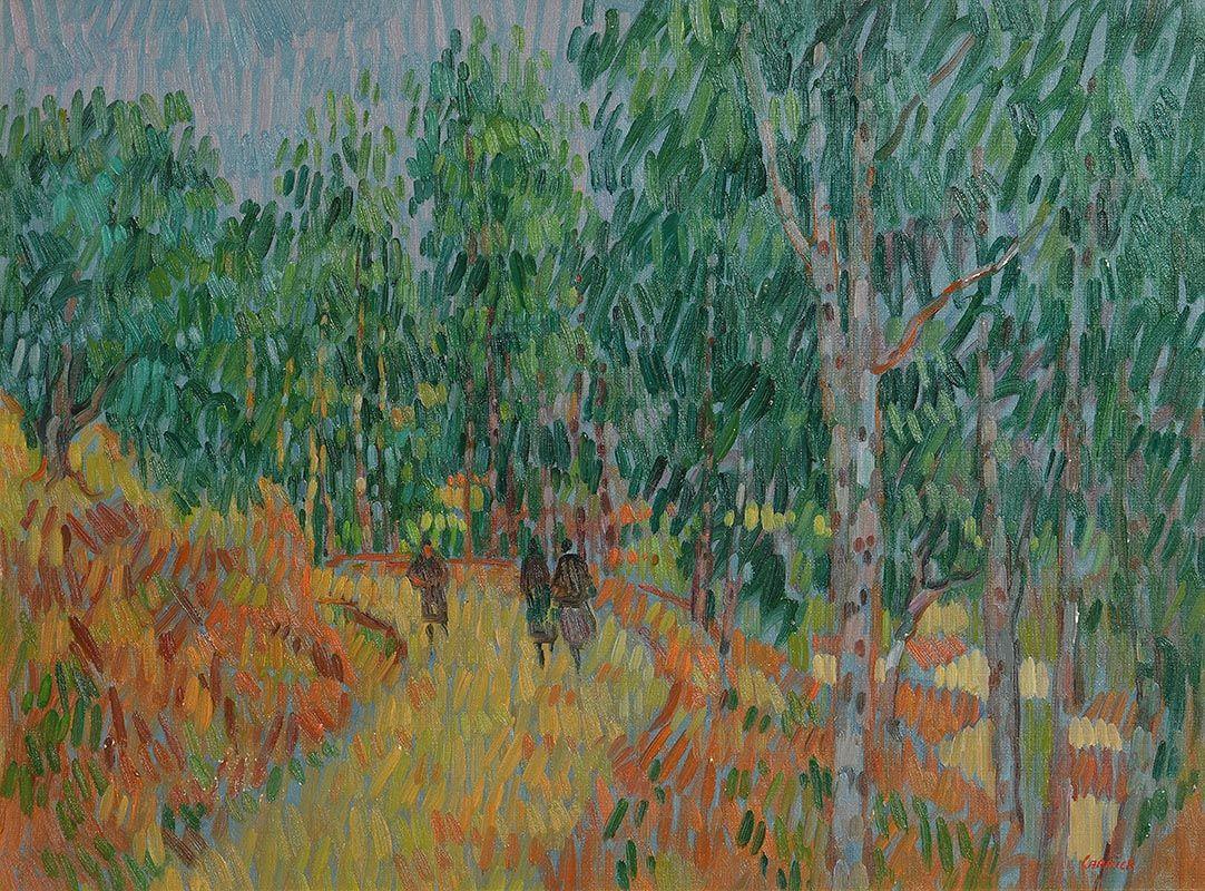 Desmond Carrick, Stroll in St Stephen's Green at Morgan O'Driscoll Art Auctions