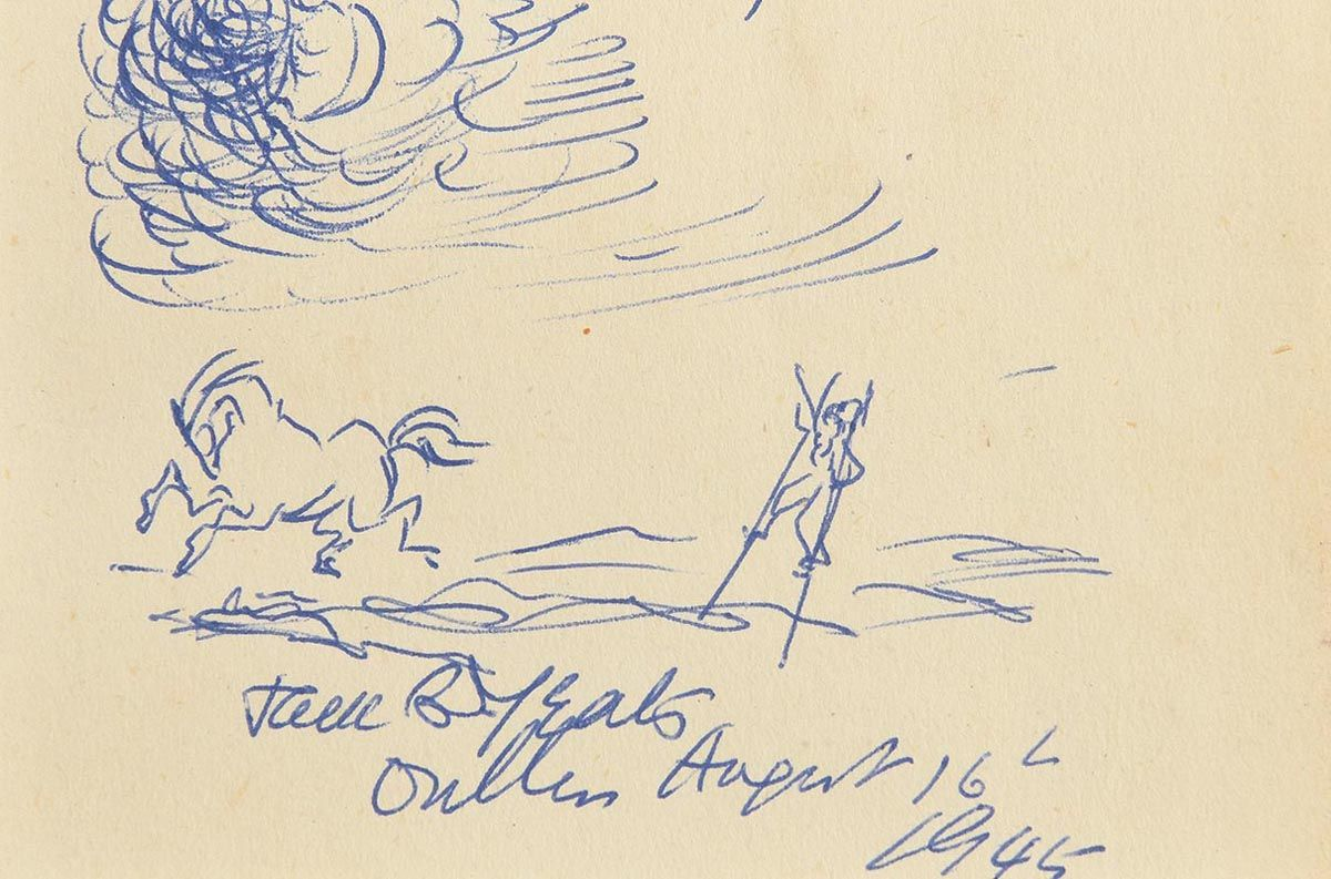 Jack Butler Yeats, Stilts and Stallion (1945) at Morgan O'Driscoll Art Auctions
