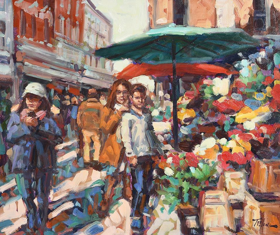 Norman Teeling, The Flower Sellers at Morgan O'Driscoll Art Auctions